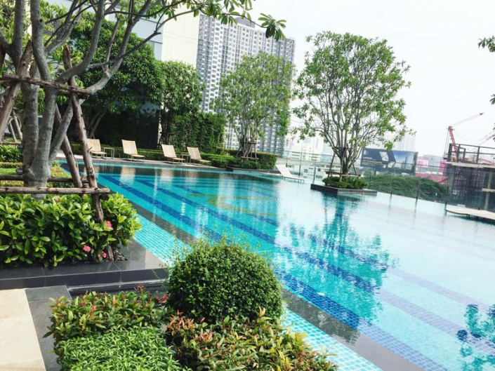 q asoke swimming pool thailand